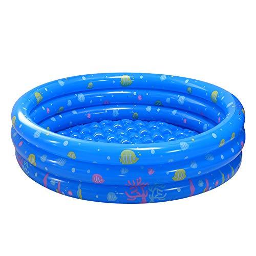 Mankoo Piscina para niños Piscina de Arena Piscina de PVO Inflable Zona de Juegos Suelo de Burbujas de Tres Anillos Piscina Infantil para Nadar Adecuado para Jardines Interiores y Exteriores