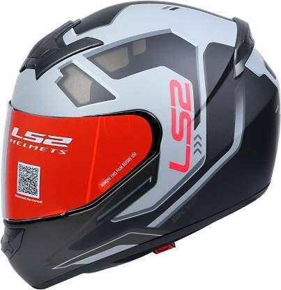 LS2 Helmets - FF352 Rookie - Iron Face - Matt Black Grey - Single Mercury Visor Full Face Helmet - (Large - 580 MM)
