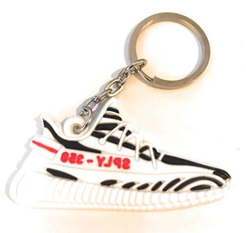 ProProCo Sneaker Schlüsselanhänger Stripes Superstar Schlüsselanhänger Superstar Schuh anhänger Fashion für Sneakerheads,Hype-Beasts und alle Adi Yeez Supreme Palace Superstar Classic (Zebra)
