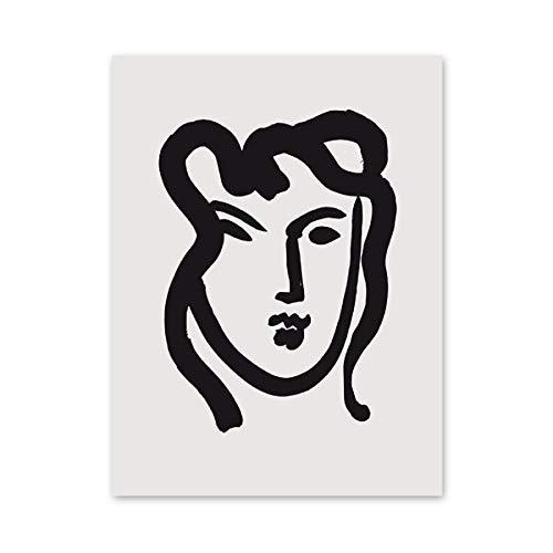 Línea abstracta dibujo minimalista cartel de Matisse impresión fauvismo pintor pared arte imagen familia sin marco lienzo pintura D 30x45cm
