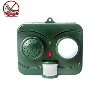 ZXCV Distributeur d'animaux à ultrasons avec répulsif pour Oiseaux et Chats,Green