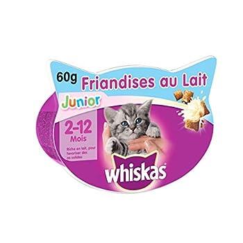 Whiskas Junior - Friandises au lait pour jeune chat et chaton (2-12 mois), 8 boîtes de 55 g de récompenses