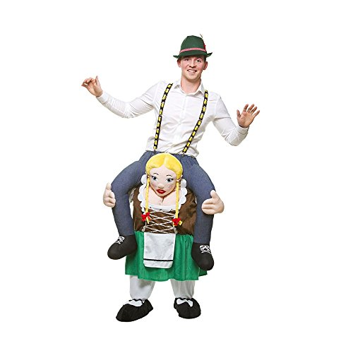 Carry me - Bayrisches Bierkostüm - Bavarian Beer Girl Huckepack