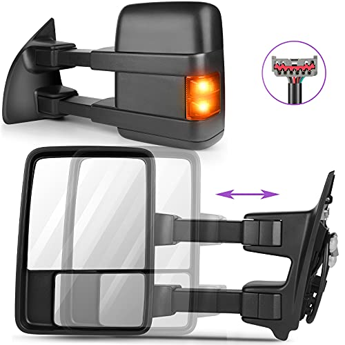 INEEDUP Tow Mirrors Towing Mirrors Fit for 1999-2015 for Ford for F250/for...