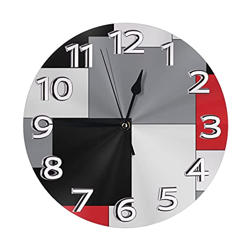 orologio da parete rosso Night Ing Orologio da Parete Rotondo Irregolare Bianco