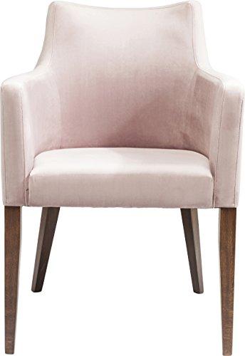 Kare Design Armlehnstuhl Mode, moderner, bequemer Esszimmerstuhl aus Samt, gepolsterter Essstuhl mit Armlehne, Rose-Braun, XXL Esszimmerstuhl, (H/B/T) 49x46x48cm