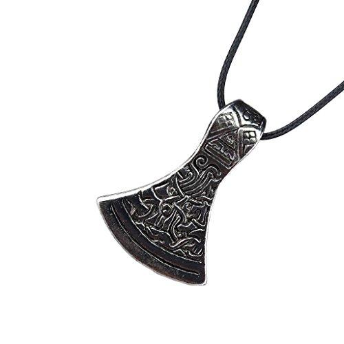 Gazechimp Unisex Hals Schmuck Schmuck Mode Geschenk 1,57 x 0,87 Zoll Hals Kette mit Anhänger - Axt Form Antikes Silber