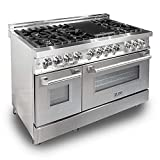 ZLINE 48' 6.0 cu. ft. Dual Fuel Range with Gas Stove and Electric Oven with Color Options (RA48)...