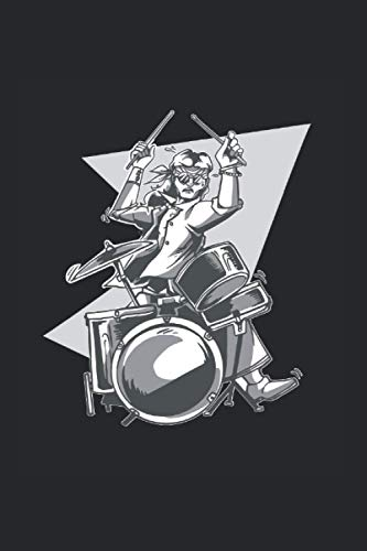 Hippie: Din A5 Peace Notizbuch Schlagzeug Geschenk mit 120 Seiten