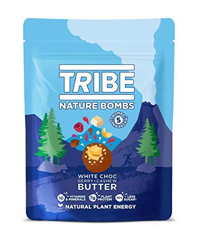 TRIBE Protein Balls - White Choc + Berry Sharing Bag - Vegan, Gluten & Dairy Free, Protein Nature Bombs (7 x 100g)