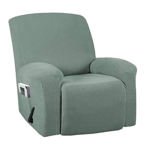 DWSM - Sofá de 1 plaza antideslizante para animales de compañía, extensible grueso y reclinable, funda de sofá con bolsillo lateral antideslizante lavable, funda de sillón (2)