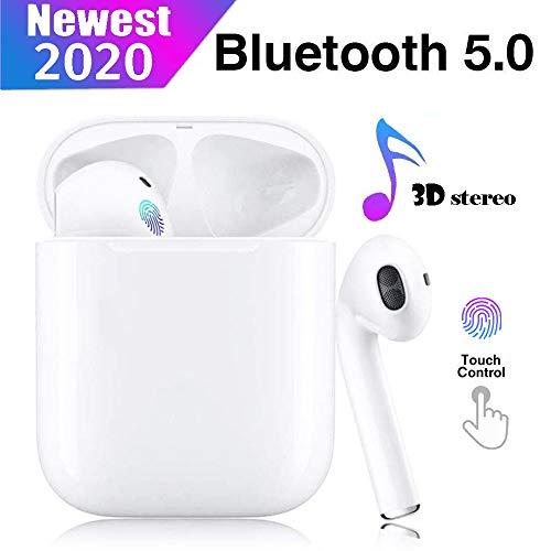Auriculares Bluetooth 5.0 Auriculares Bluetooth Inalámbrico 650mAh 20H Tiempo De Juego Audio Stereo 3D in Ear con Mic, IPX5 Resistentes al Agua para Apple/Airpods/Android/iPhone/Samsung