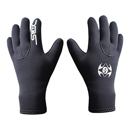 LIOOBO 1 Paar 3mm Neopren Tauchhandschuhe Swim Gloves Elastic Anti -Slip Schnorchel Equipment Handschuhe Schnorcheln Schnorchel Gloves für Winter Diving Spearfishing M Black