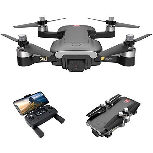 JJDSN Drone GPS con cámara para Adultos, Drone RC con cámara 4K HD, Quadcopter RC 5G WiFi FPV con Motor sin escobillas, posicionamiento de Flujo óptico, Seguimiento de Vuelo, sígueme, 1 batería