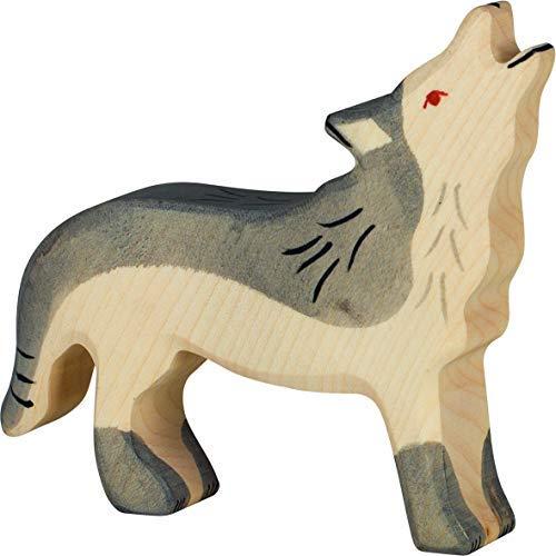 Holztiger Wolf, heulend, 80109