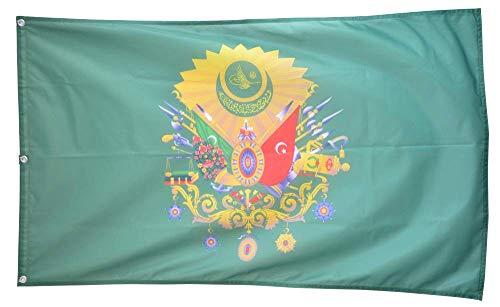 Flaggenfritze Fahne/Flagge Osmanisches Reich Wappen - 150 x 250 cm + gratis Sticker, Premiumqualitäts-Fahne
