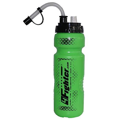 4Fighter Spray Boxing Bottle flacone bottiglia verde neon da 0,8 litri con cannuccia