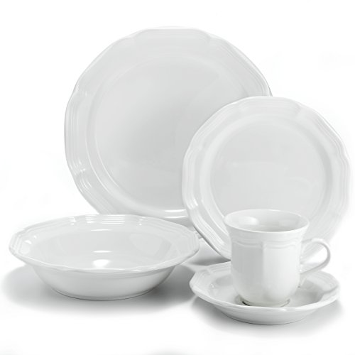 Mikasa French Countryside 40-Piece Dinnerware Set, Service for covid 19 (Mikasa Dinner Sets coronavirus)