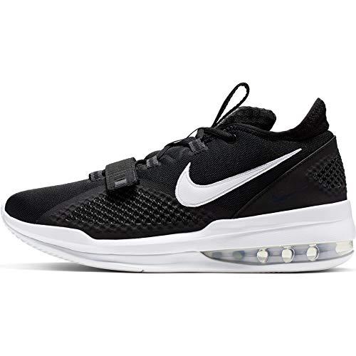Nike Air Force Max Low, Chaussures de Basketball Homme, Multicolore Noir Blanc Black White White Volt 000, 45.5 EU