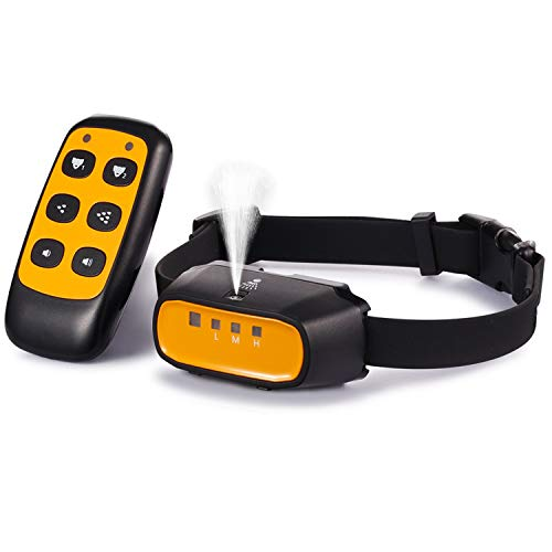 WWVVPET Citronella Spray Dog Training Collar with Remote Control,2 Modes Spray Dog Bark Collar (Not Included Citronella Spray),500 ft Range No Electric Shock Harmless Anti-Bark Collar,Rechargeable