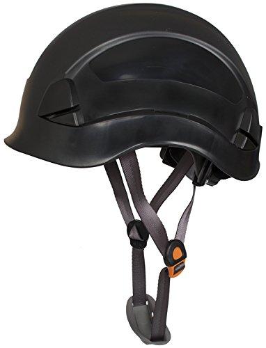 Linesman - Casco de seguridad para escalada y cuerda (negro)