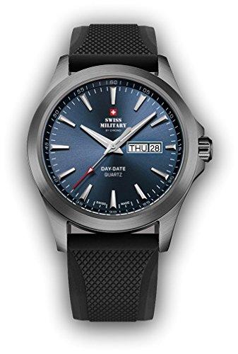 Swiss military smp36040.bpl6rub Reloj para Hombre Analógico de Cuarzo con Brazalete de Silicona SMP36040.18