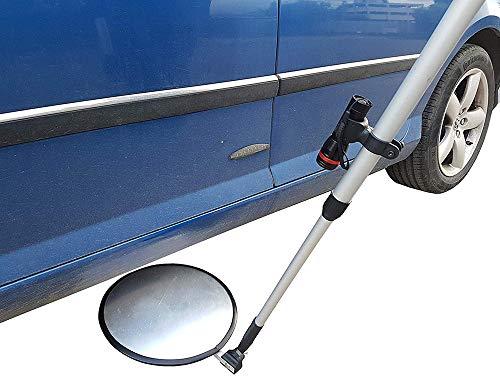 Auto Inspectie Spiegel, Hand-Held Intrekbare Dak Veiligheid Inspectie Spiegel, Acryl Explosie-Proof Convex Reflector, Geschikt voor Voertuig Bodem, Ondergronds, Dak, Plafond, Etc, licht