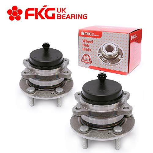 Price comparison product image FKG 512326 (FWD Only) Rear Wheel Bearing Hub Assembly fit for 07-15 Hyundai Santa Fe,  13-15 Hyundai Santa Fe XL,  07-12 Hyundai Veracruz,  11-15 Kia Sorento,  5 Lugs Set of 2