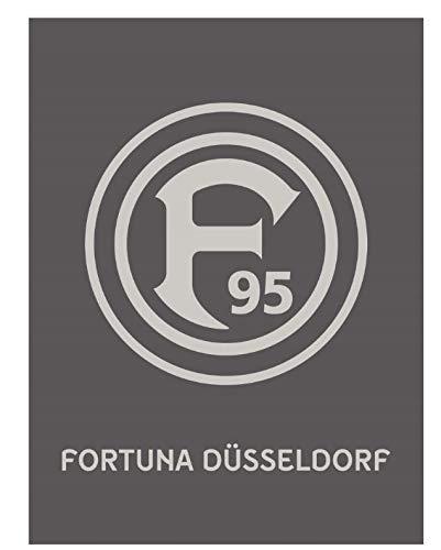 Fortuna Düsseldorf Veloursdecke Ton in Ton Decken Fanartikel Lizenz