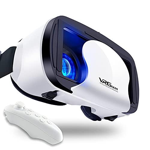Occhiali 3D VR, Visore Realtà Virtuale con Lente Regolabile Cuffie 3D VR per Realtà Virtuale per Film e Giochi 3D, Compatibile con iPhone, Smartphone per 4.7-6.5 Pollici,Occhiali VR Leggere e Comode