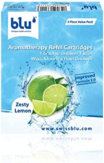 Blu Intelligent Health Solutions Zesty Lemon Refill Cartridges Value Pack, Green, RGV3-ZL-ISF-WM/RS-V3.0, 3 Pieces