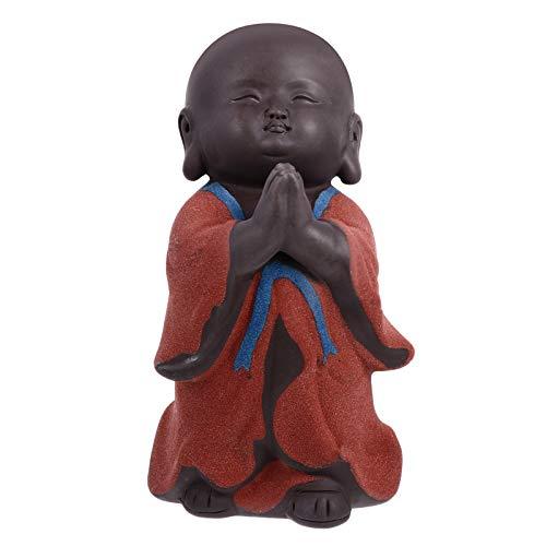 ibasenice Decoración de acuarios Decoración de Monje Zen, Figura de Buda de Mesa, Adorno de muñeca, Adorno de Mini Monje