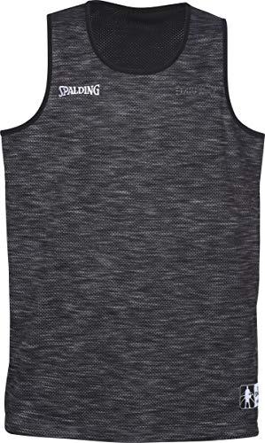 Spalding Street Reversible Camiseta sin Mangas, Hombre, Gris mélange/Negro, XL
