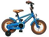 Amigo Sports - Bicicleta Infantil de 12 Pulgadas - para niños de 3 a 4 años - con V-Brake, Freno de Retroceso, Timbre y ruedines - Azul