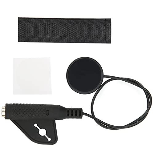 CUTULAMO Ukelele Violín, MP20 Fácil afinación Plástico Práctico Pastilla para violín con convertidor de Interfaz de 6,5 Mm para Instrumentos Musicales(MP20)