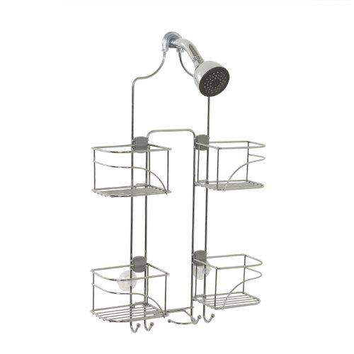 Zenna Home Expandable OverTheShower Caddy Chrome
