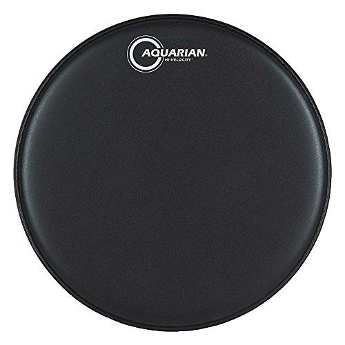 """Aquarian VEL14 BLK - Parche de caja, de 14"""", dos capas rugoso, color negro"""