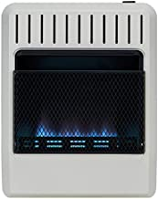 Avenger FDT20BFA Dual Fuel Ventless Blue Flame Gas Heater, Vent Free, 20,000 BTU, White