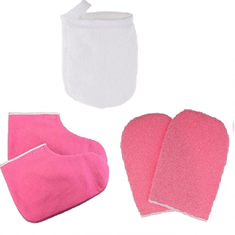 会計士正確なパスB Blesiya グローブ パラフィンワックス保護手袋 メイクリムーバー パッド パラフィンワックス手袋