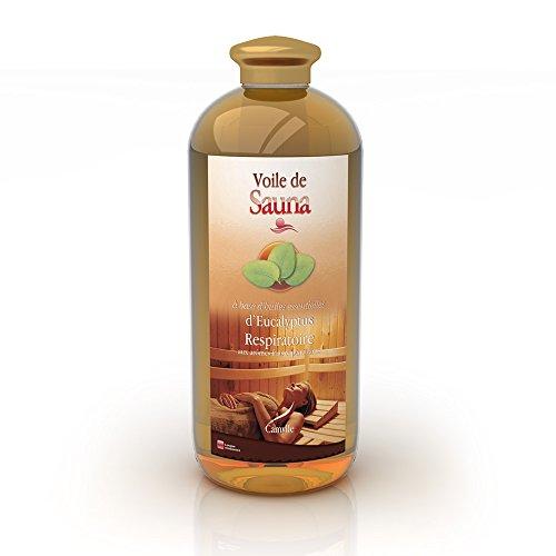 Camylle - Voile de Sauna Eucalyptus - Fragrances à base d'Huiles Essentielles 100% Pures et Naturelles pour Sauna - Respiratoire aux arômes frais et pénétrants - 1000ml