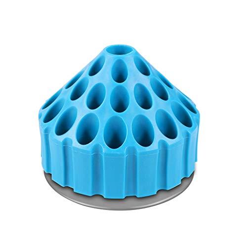 TIREOW Multifunktions Hartplastik Blau Rotierenden Bohrer Aufbewahrungskoffer Ständer Halter Büro Stift Bleistift Display Box