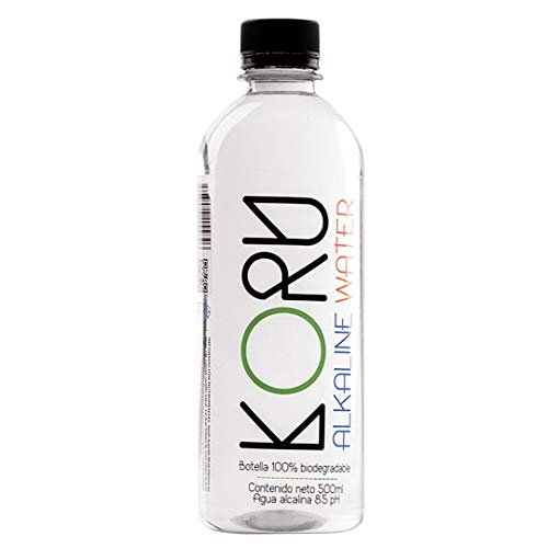 RETTO KORU ALCALINE WATER 20 Botellas de Agua Alcalina de Manantial Embotellada - Cada Botella de 500 mililitros.