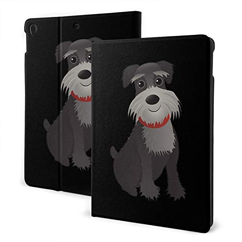 Mini Schnauzer Dog Ipad Air3 10.5' Generation Case Case Slim Stand Hard Back Shell Protective Smart Cover Case PU Leather Multi-Angle Folio