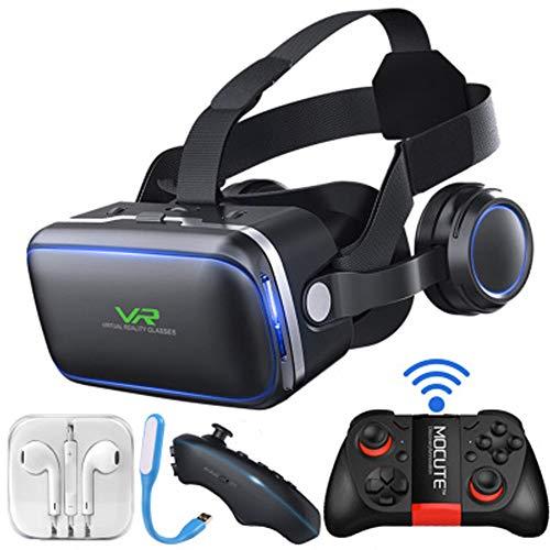 PXYUAN Gafas 3D de Realidad Virtual para Juegos VR \u0026 películas 3D, Gafas de Realidad Virtual VR compatibles con Android y Otros teléfonos de 4,7 – 6,0 Pulgadas