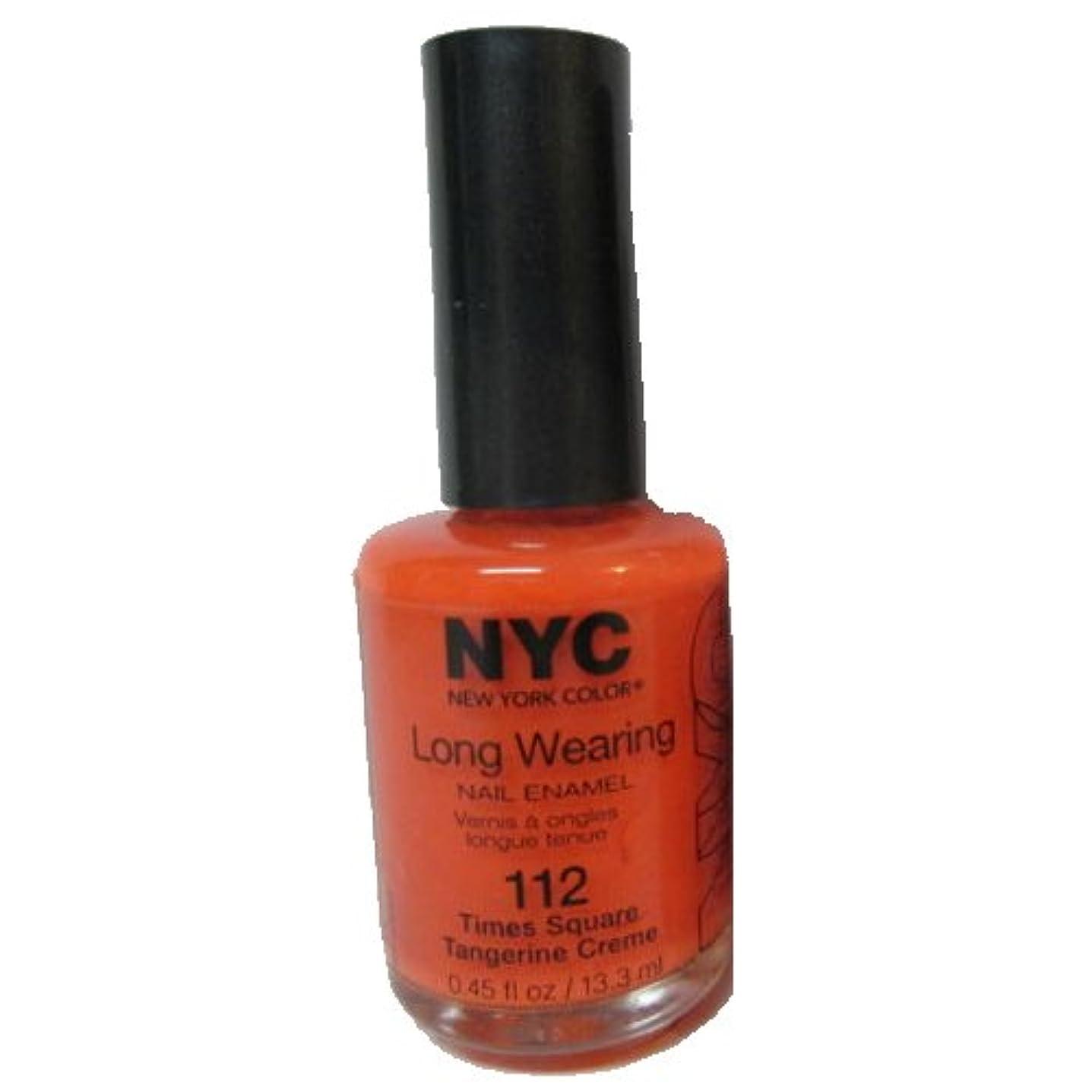 そう本体泥だらけ(6 Pack) NYC Long Wearing Nail Enamel - Times Square Tangerine (並行輸入品)