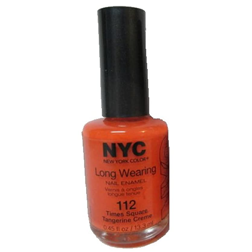 彼は火負担(6 Pack) NYC Long Wearing Nail Enamel - Times Square Tangerine (並行輸入品)