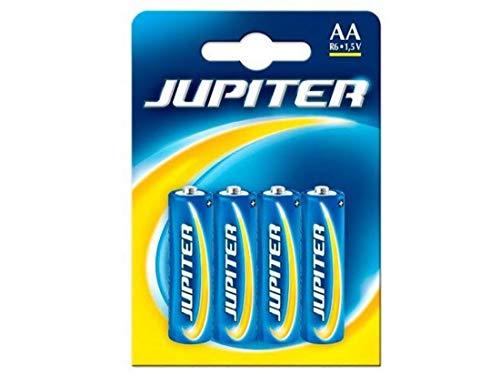 Jupiter Pila Sal. R6 Blister 4 UDS. (318383), Negro, Estandar