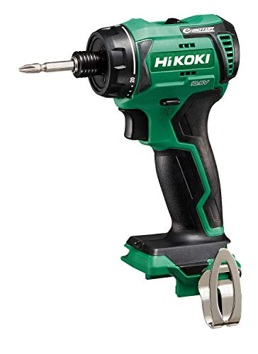 HiKOKI(ハイコーキ) 旧日立工機 コードレスドライバドリル 本体のみ 蓄電池、充電器別売り 手締め機構付 10.8V DB12DD(NN) グリーン