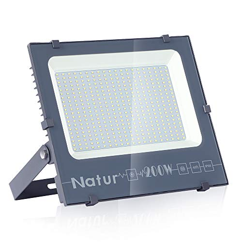 200W LED Foco Exterior de alto brillo,20000LM Impermeable IP66 Proyector Foco LED,...
