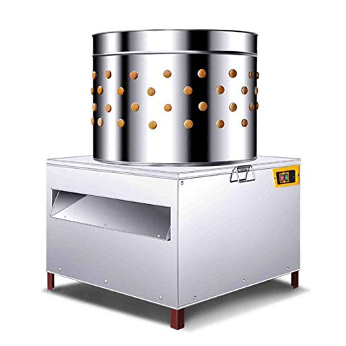 20' Chicken Plucker Machine, Stainless Steel De-Feather Remover Poultry&Fowl, Automatic Chicken Plucker - Ideal for Poultry Chicken, Bird, Duck, Turkey, Quail